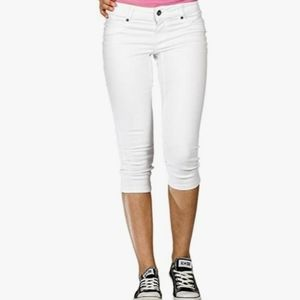 Suko Jeans White Skinny Power Stretch Capri
